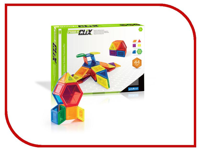 Конструктор Guidecraft PowerClix Solids 44 дет. G9421 конструкторы guidecraft магнитный powerclix solids 70 деталей
