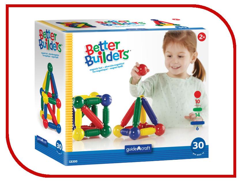 Конструктор Guidecraft Better Builders 30 дет. G8300 сортеры guidecraft сортер better builders набор профессии