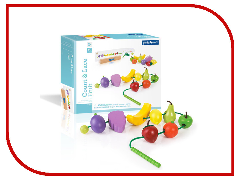 Игрушка Guidecraft Count and Lace Fruit G6803