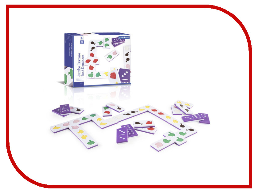 Настольная игра Guidecraft Jumbo Texture Food Dominoes G5056