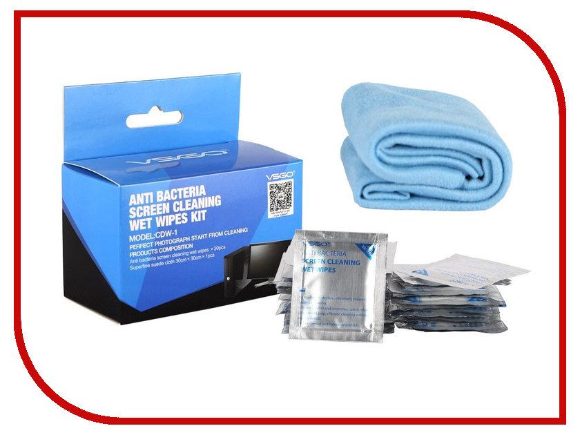 Аксессуар VSGO Набор влажных салфеток НВС-1 аксессуар vsgo швабра для чистки полноформатных матриц 24мм