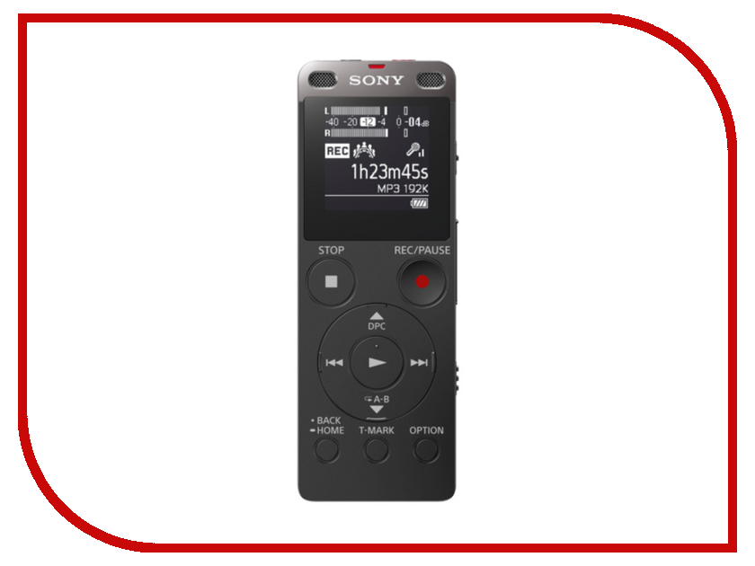 Диктофон Sony ICD-UX560 Black красота и уход gezatone массажер для ухода за кожей лица m8810
