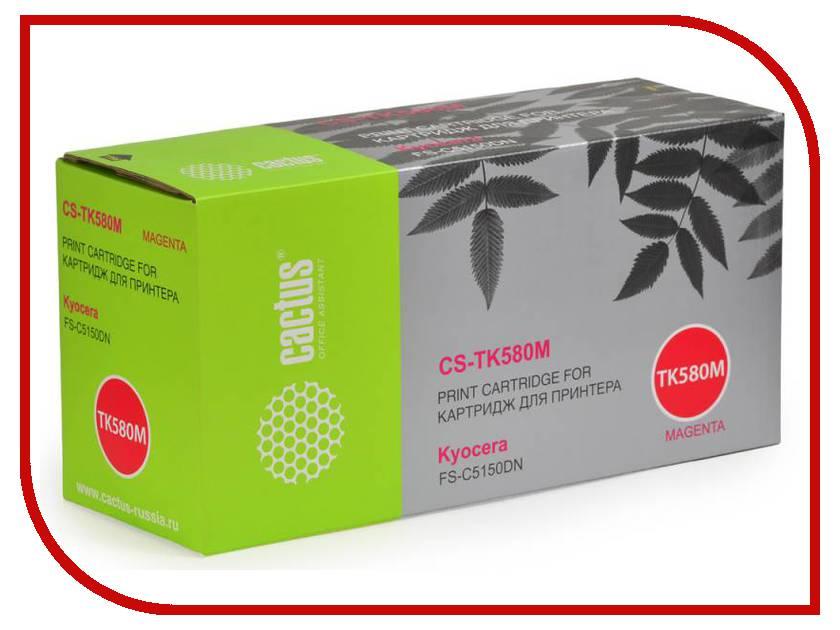 Картридж Cactus Magenta для FS-C5150DN/P6021 Ecosys 2800стр. CS-TK580M