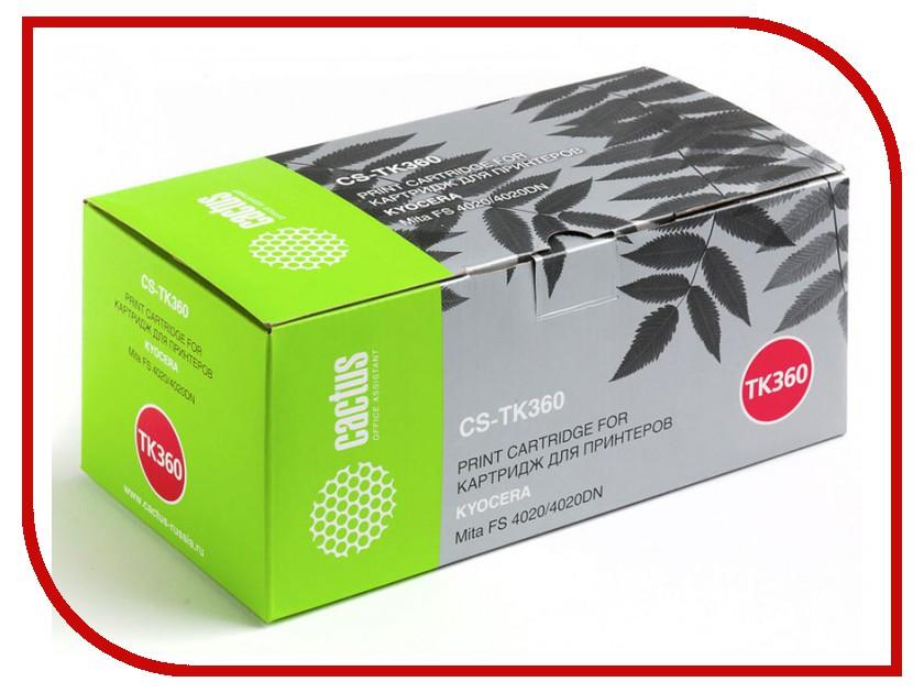 Картридж Cactus Black для Mita FS 4020/4020DN 20000стр. CS-TK360 картридж cactus cs tk65 для kyocera mita fs 3820 3830 черный 20000стр