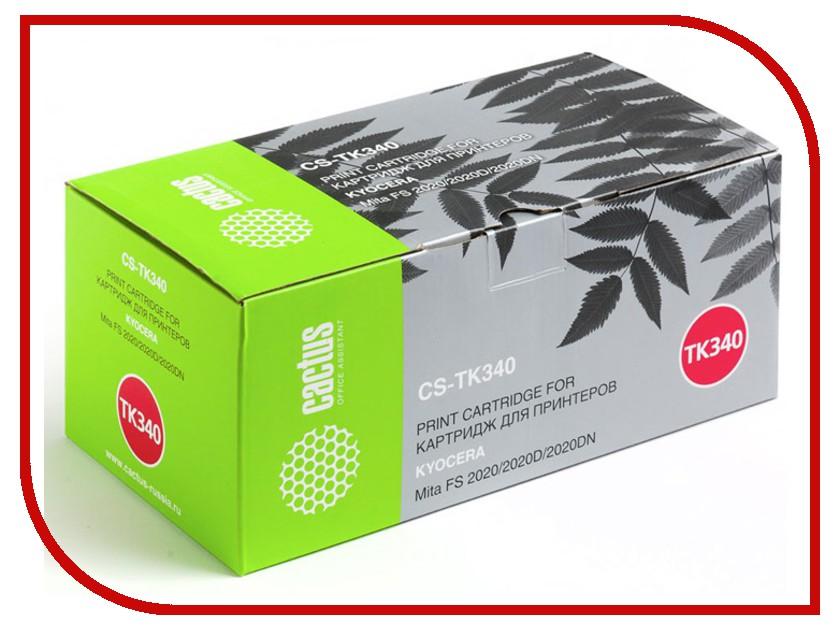 Картридж Cactus Black для Mita FS 2020/2020D/2020DN 12000стр. CS-TK340 fs 2020dn tk340 eu 12k bk toner chip suitable for kyocera