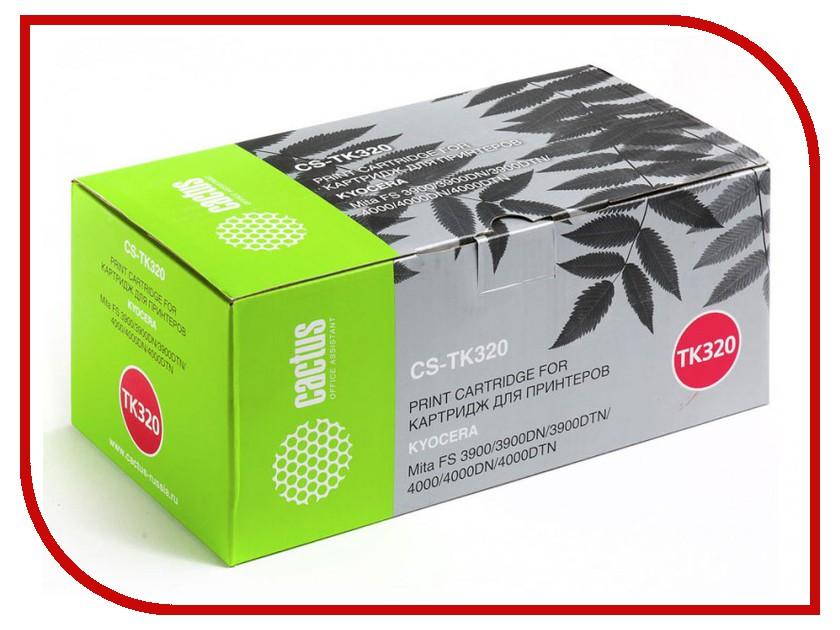 Картридж Cactus Black для Mita FS 3900/3900DN/3900DTN/4000/4000DN/4000DTN 15000стр. CS-TK320 тонер картридж cactus cs tk320