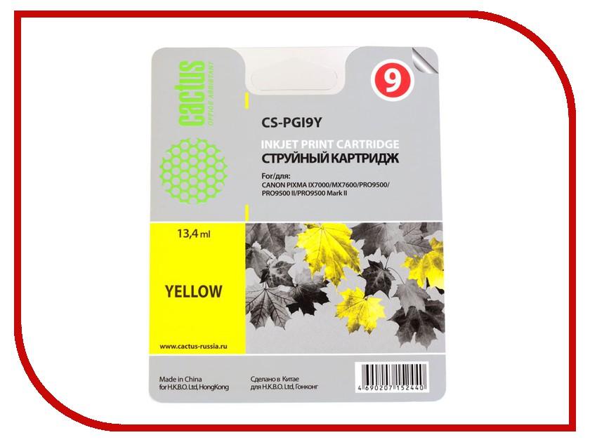 Картридж Cactus Yellow для Pixma PRO9000 MarkII/PRO9500 13.4ml CS-PGI9Y картридж совместимый для струйных принтеров cactus cs pgi29y желтый для canon pixma pro 1 36мл cs pgi29y