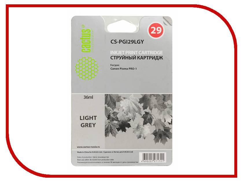Картридж Cactus Light Grey для Pixma Pro-1 36ml CS-PGI29LGY