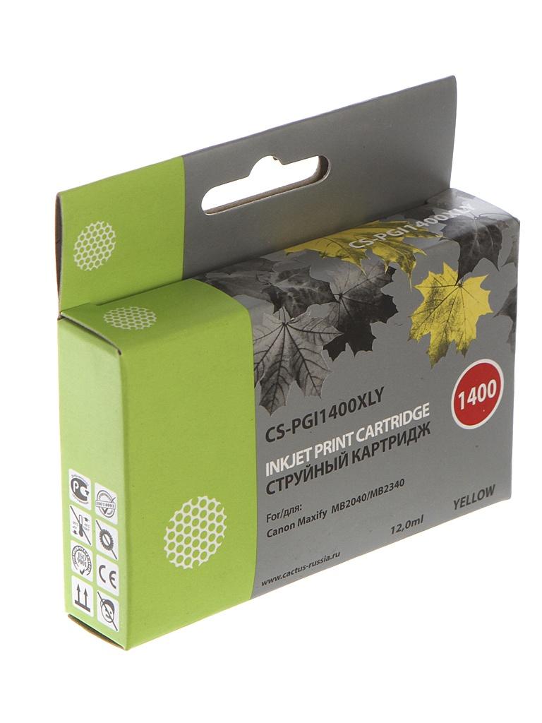 Картридж Cactus CS-PGI-1400XLY Yellow для MB2050/MB2350/MB2040/MB2340 11.5ml CS-PGI1400XLY