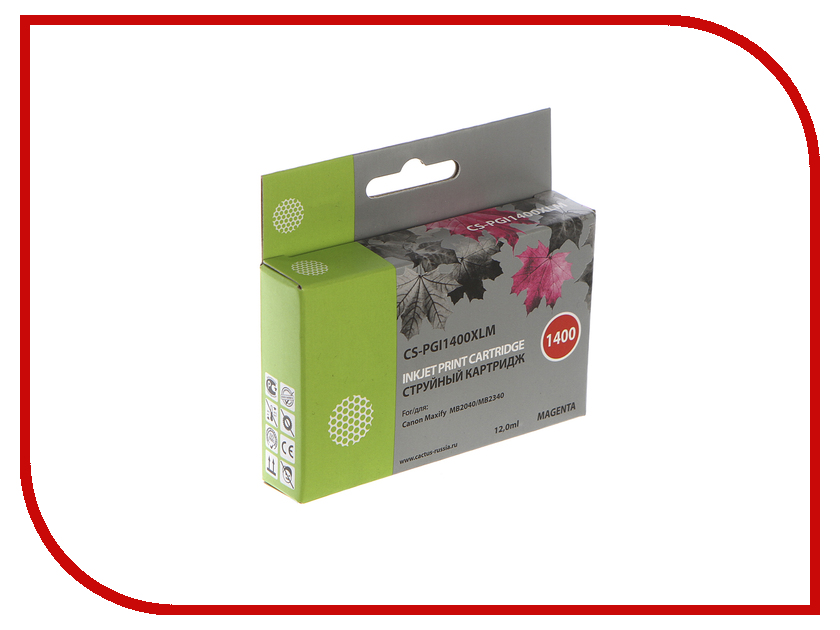 где купить Картридж Cactus Magenta для MB2050/MB2350/MB2040/MB2340 11.5ml CS-PGI1400XLM по лучшей цене