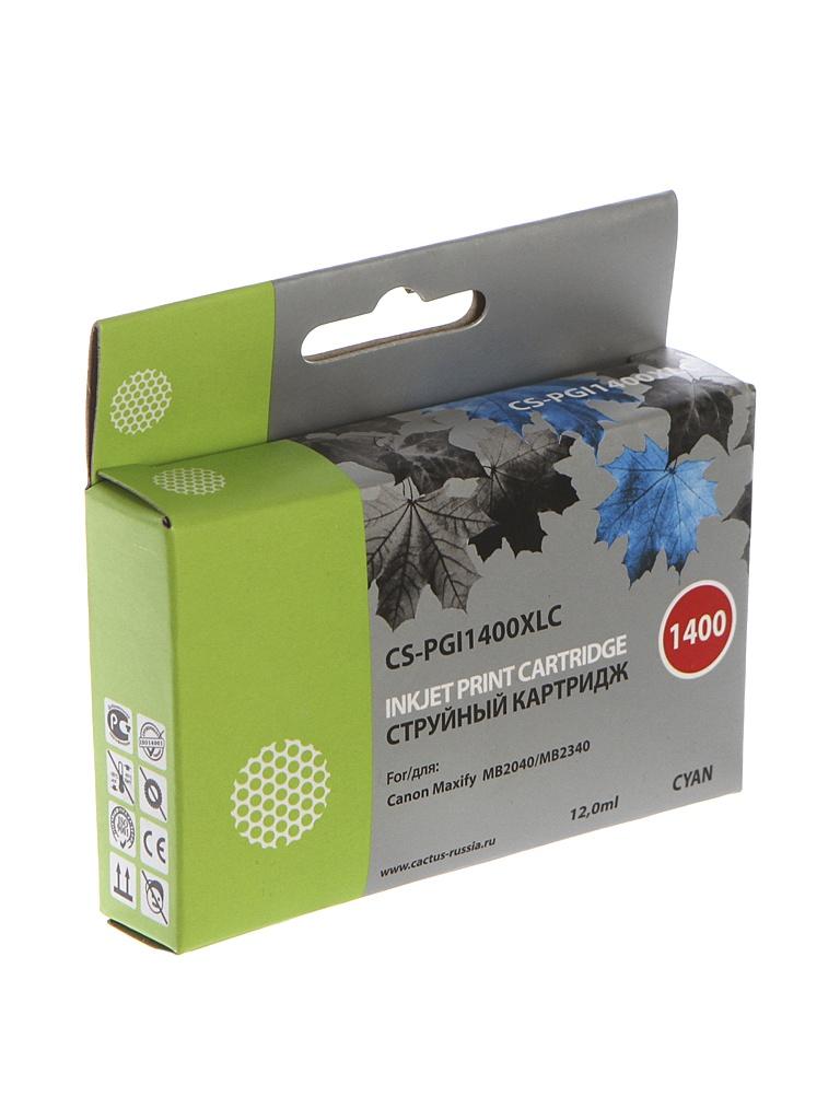 Картридж Cactus CS-PGI1400XLC Blue для Canon MB2050/MB2350/MB2040/MB2340 11.5ml