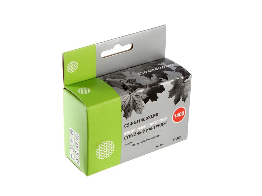 Картридж Cactus CS-PGI1400XLBK Black для Canon MB2050/MB2350/MB2040/MB2340 36ml