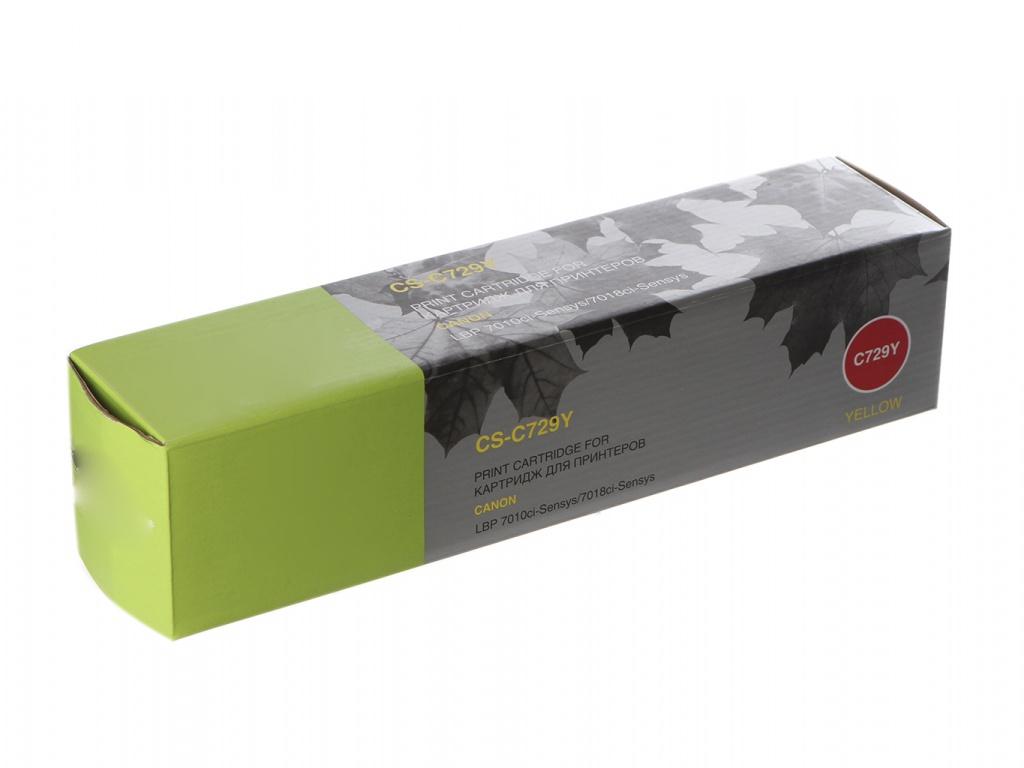 Картридж Cactus CS-C729Y Yellow для Canon i-SENSYS LBP-7010C/ LBP-7018C 1000стр