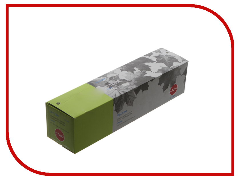 Картридж Cactus Cyan для i-SENSYS LBP-7010C/LBP-7018C 1000стр. CS-C729C принтер canon i sensys colour lbp653cdw лазерный цвет белый [1476c006]