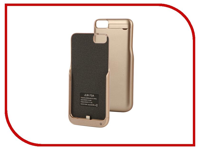 Аксессуар Чехол-аккумулятор Activ JLW 7GA для iPhone 7 2800 mAh Gold 66002 аксессуар защитное стекло activ 3d gold для apple iphone 7 69556