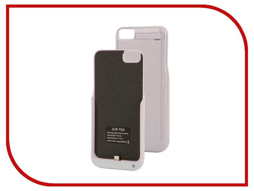 Аксессуар Чехол-аккумулятор Activ JLW 7GA для iPhone 7 2800 mAh White 66003 аксессуар чехол накладка micromax canvas viva a106 activ silicone black mat 46857
