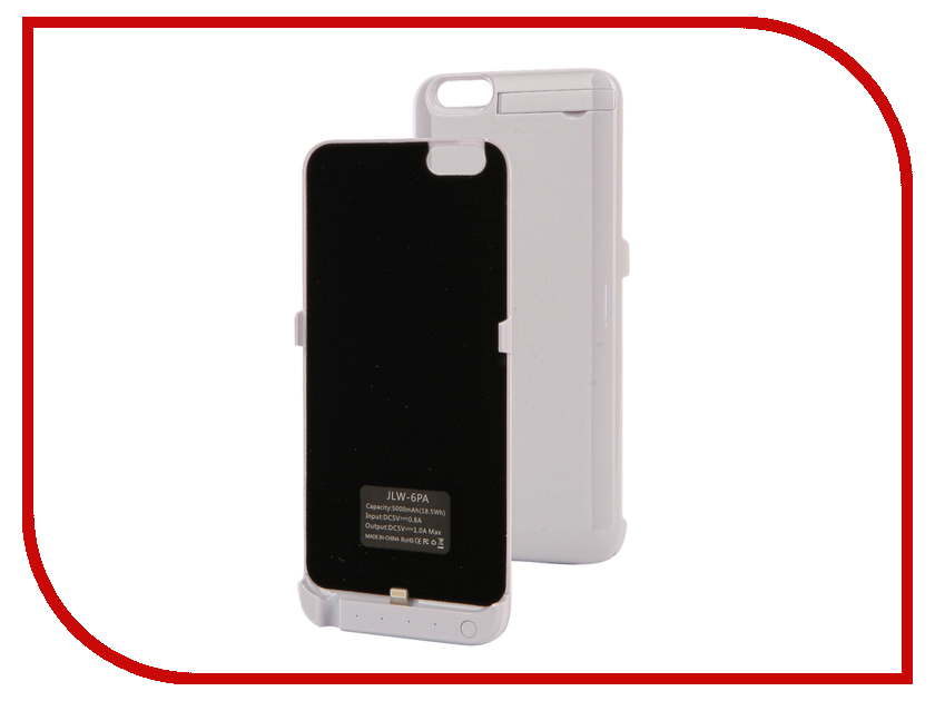 Аксессуар Чехол-аккумулятор Activ JLW PA для iPhone 6 Plus 5000 mAh White 66007 чехол аккумулятор