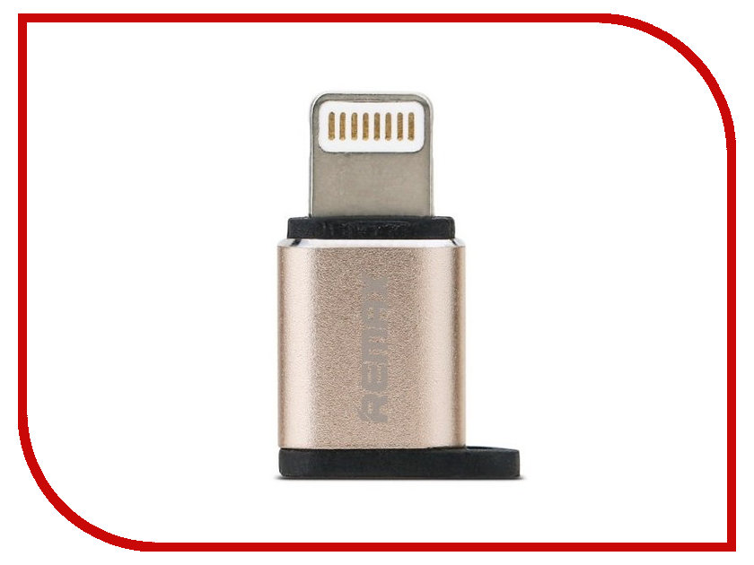 Аксессуар Remax RA-USB2 - microUSB/Lighting Gold 64838