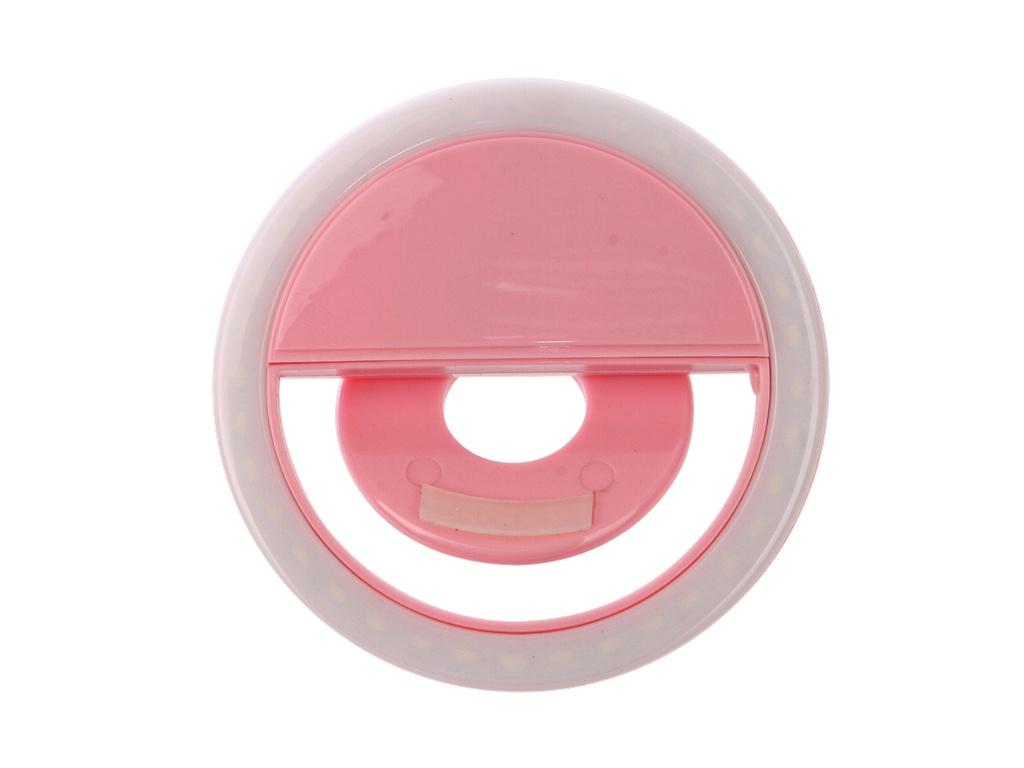 Фонарь-кольцо для селфи Krutoff Pink 22045 держатель krutoff cy 39 17094