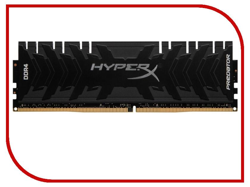 Модуль памяти Kingston HyperX Predator DDR4 DIMM 2400MHz PC4-19200 CL12 - 16Gb HX424C12PB3/16 оперативная память 16gb pc4 19200 2400mhz ddr4 dimm cl17 kingston kvr24n17d8 16