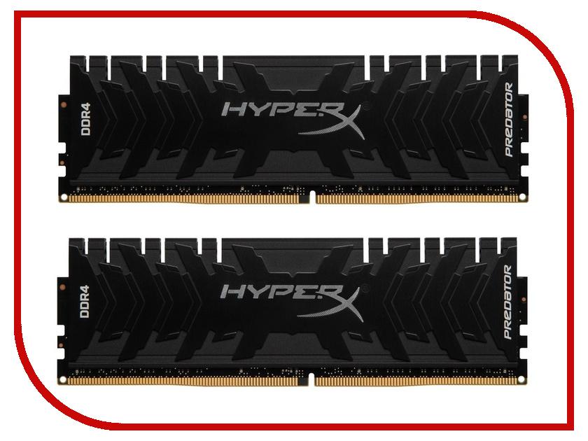 Модуль памяти Kingston HyperX Predator DDR4 DIMM 2400MHz PC4-19200 CL12 - 16Gb KIT (2x8Gb) HX424C12PB3K2/16