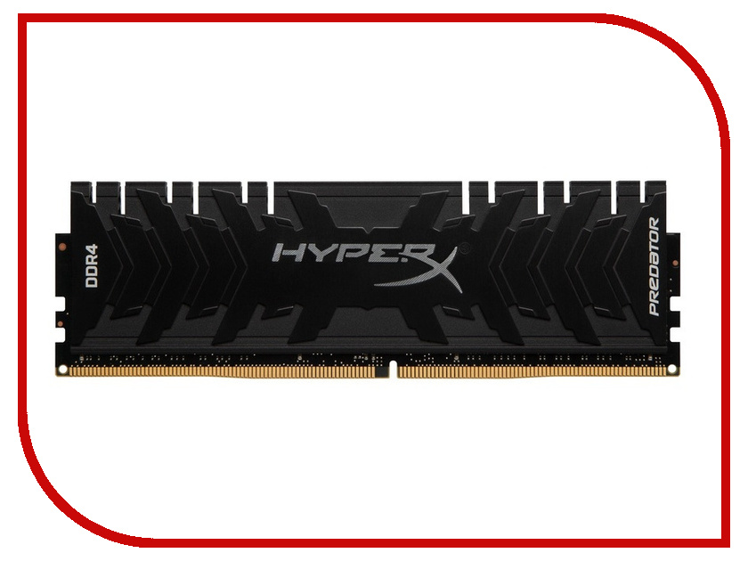 Модуль памяти Kingston HyperX Predator DDR4 DIMM 3000MHz PC4-24000 CL15 - 16Gb HX430C15PB3/16 модуль памяти klevv ddr4 dimm 3000mhz pc24000 cl15 16gb km4z16x2a 3000 0