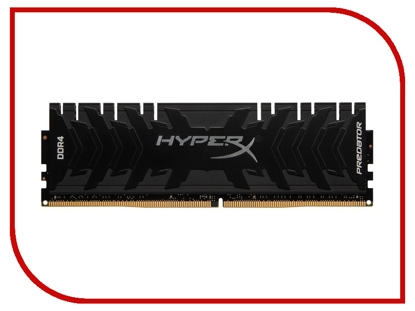 Модуль памяти Kingston HyperX Predator DDR4 DIMM 3000MHz PC4-24000 CL15 - 8Gb HX430C15PB3/8 модуль памяти kingston hyperx fury pc4 21300 dimm ddr4 2666mhz cl15 8gb hx426c15fb 8