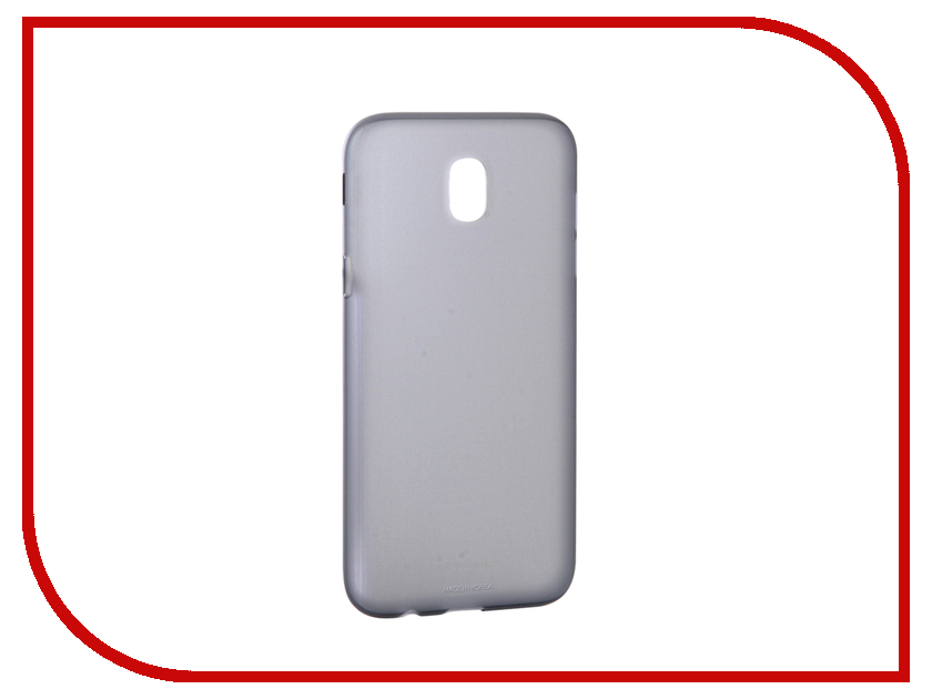 Аксессуар Чехол Samsung Galaxy J5 2017 SM-J530 Jelly Cover Black SAM-EF-AJ530TBEGRU аксессуар чехол накладка samsung sm g928 galaxy s6 edge clear cover silver sam ef qg928csegru