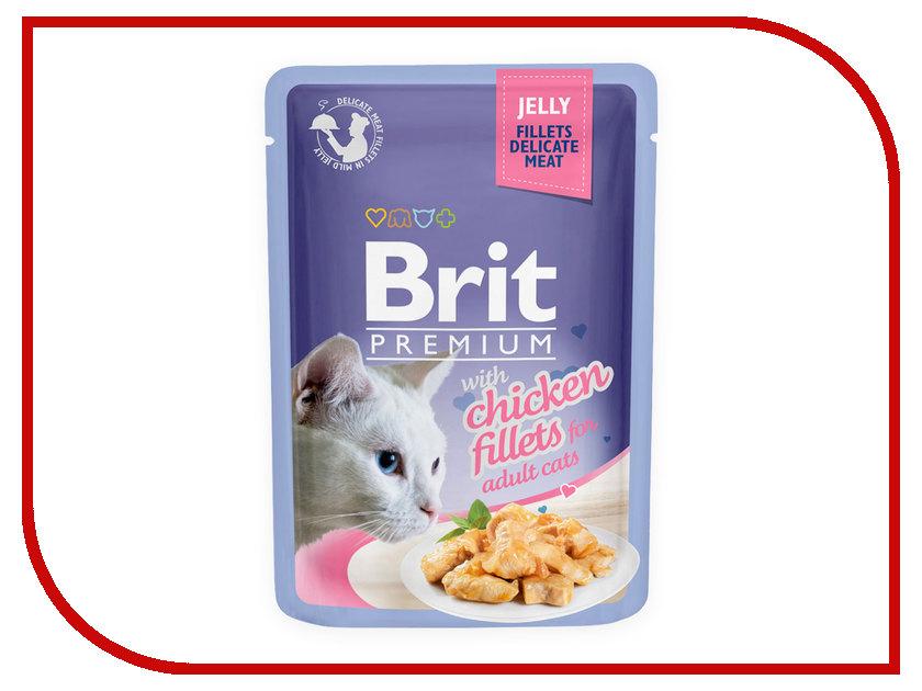 Корм Brit Premium курица желе 85g для кошек 518463