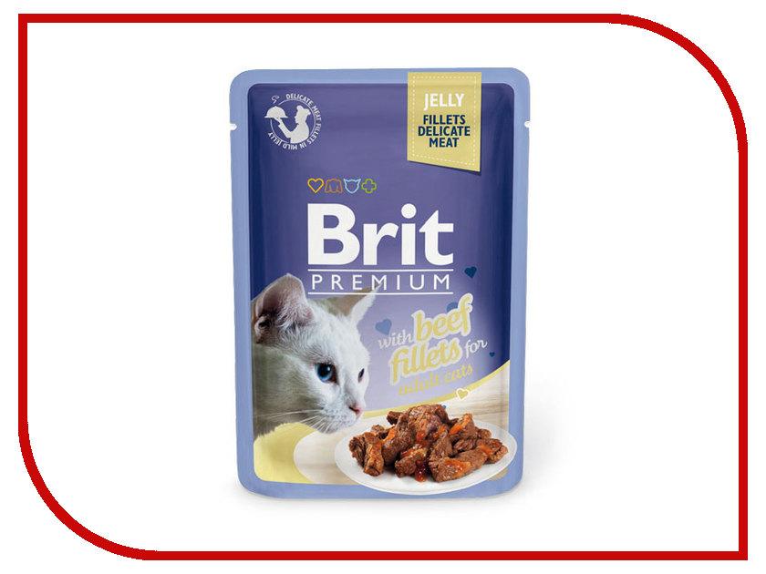 Корм Brit Premium Говядина в желе 85g для кошек 518470