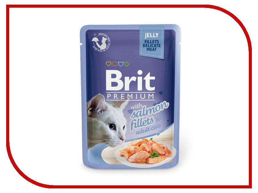 Корм Brit Premium Лосось в желе 85g для кошек 518487