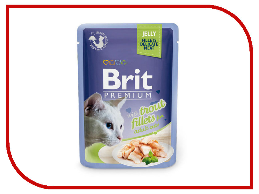 Корм Brit Premium Форель в желе 85g для кошек 518494