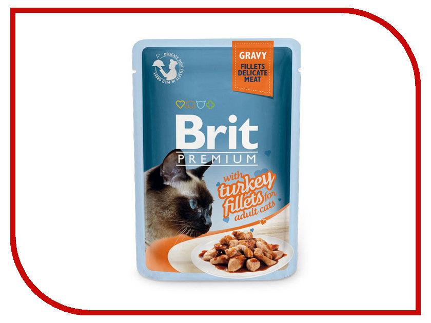 Корм Brit Premium Индейка в соусе 85g для кошек 518531