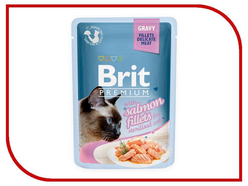 Корм Brit Premium Лосось в соусе 85g для кошек 518562