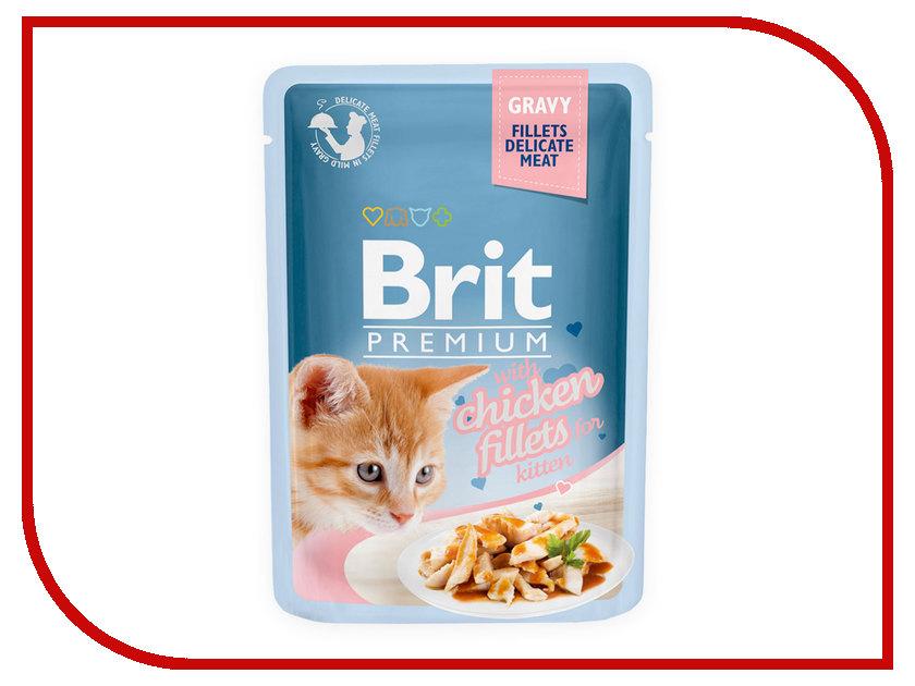 Корм Brit Premium Куриное филе в соусе 85g для котят 518579<br>