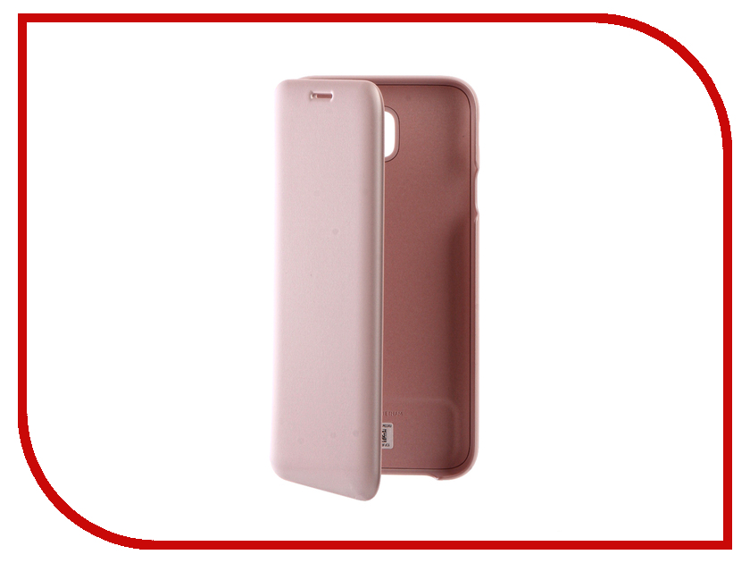 Аксессуар Чехол Samsung Galaxy J7 2017 SM-J730F Wallet Cover Pink EF-WJ730CPEGRU аксессуар чехол samsung galaxy j7 2017 sm j730f wallet cover gold ef wj730cfegru