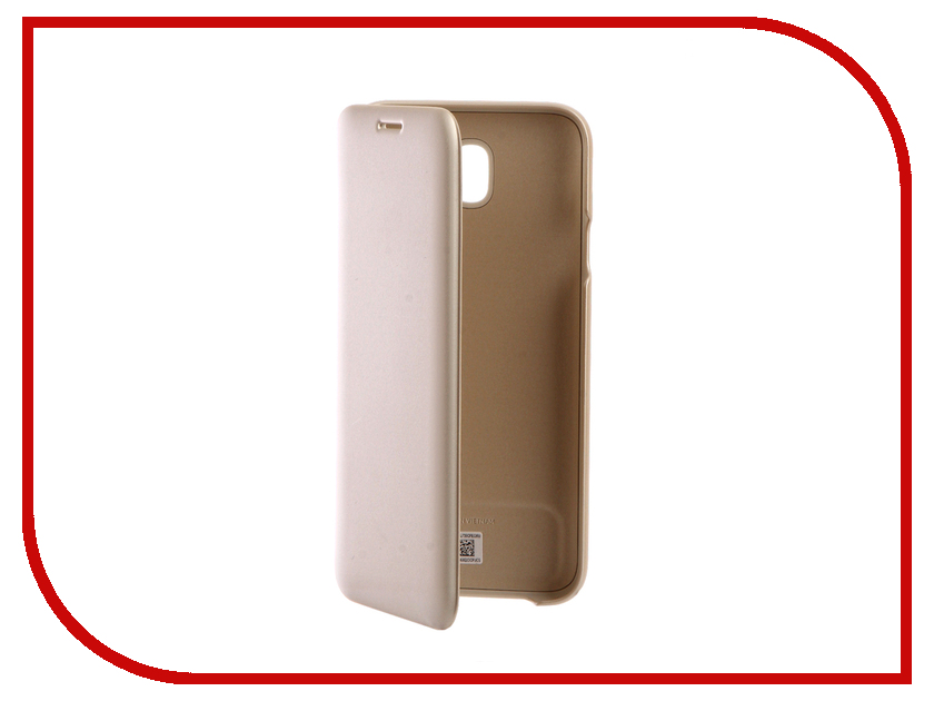 Аксессуар Чехол Samsung Galaxy J7 2017 SM-J730F Wallet Cover Gold EF-WJ730CFEGRU аксессуар чехол для samsung galaxy j7 2017 j730f innovation silicone black 10682