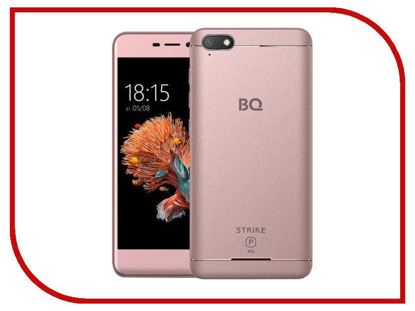Сотовый телефон BQ 5037 Strike Power 4G Pink Gold сотовый телефон elari nanophone c pink