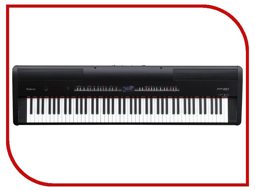 Цифровое фортепиано Roland FP-80 вокальный процессор roland vp 03