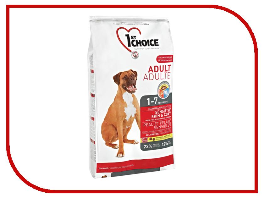 Корм 1st Choice Ягненок рыба рис 350g для собак с чувствительной кожей и шерстью 102.318