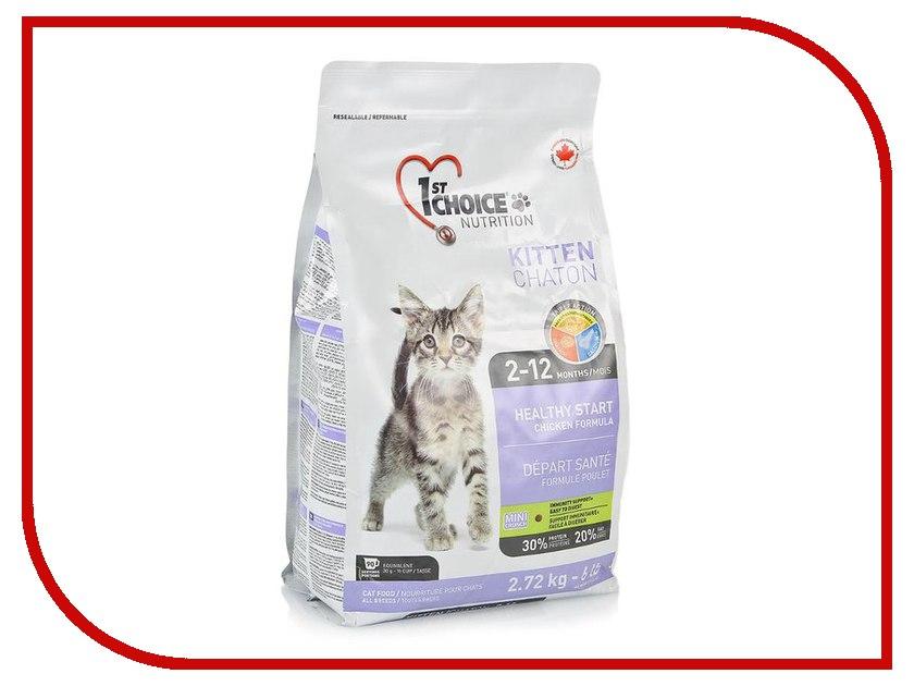 консервы цыпленок с рисом для котят 1 75100 100 г Корм 1st Choice Здоровый Старт Цыпленок 350g для котят 102.1.200