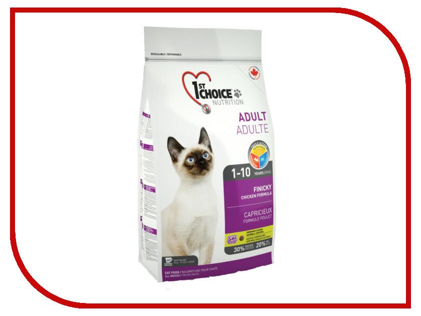цены Корм 1st Choice Finicky Цыпленок 350g для кошек 102.1.230