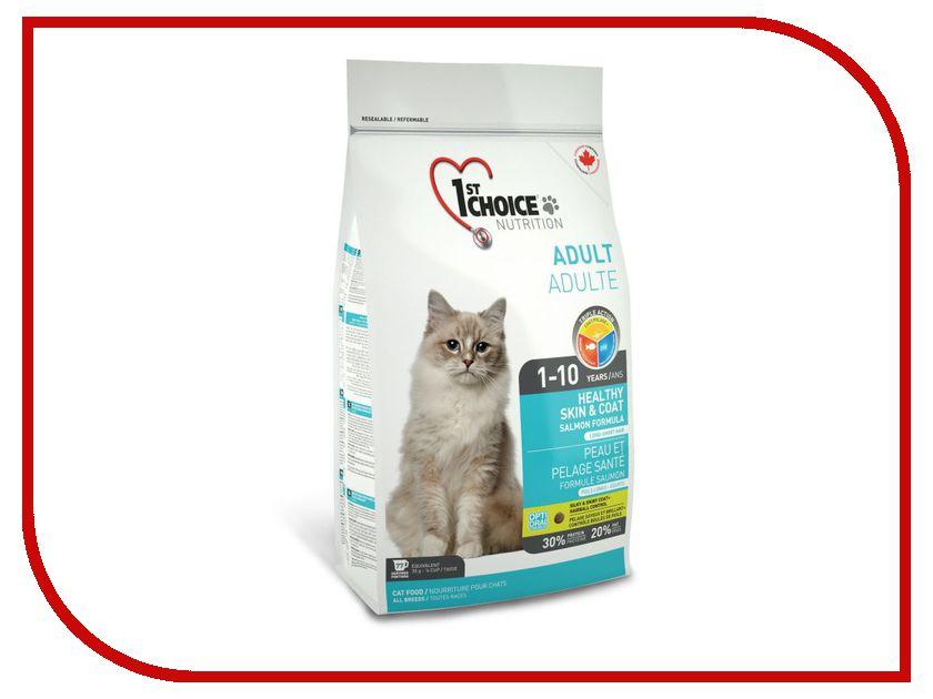 Корм 1st Choice Лосось 5.4kg для кошек здоровая кожа и шерсть 102.1.223