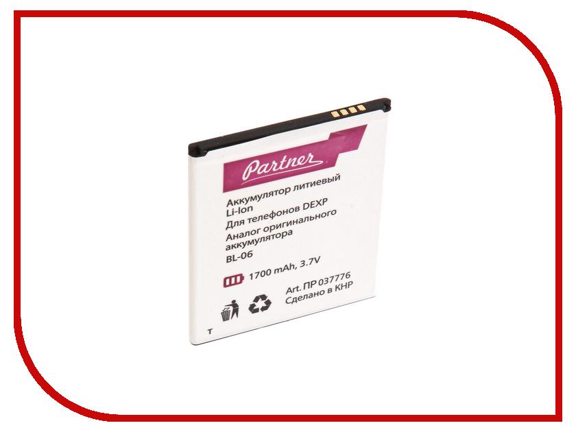 Аксессуар Аккумулятор DEXP Ixion ES2 4.5 BL-06 Partner 1700mAh ПР037776 dexp ixion x147 puzzle