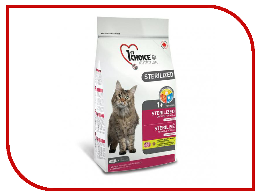 Корм 1st Choice Sterilized Курица бататом 320g для кошек 102.1.280<br>