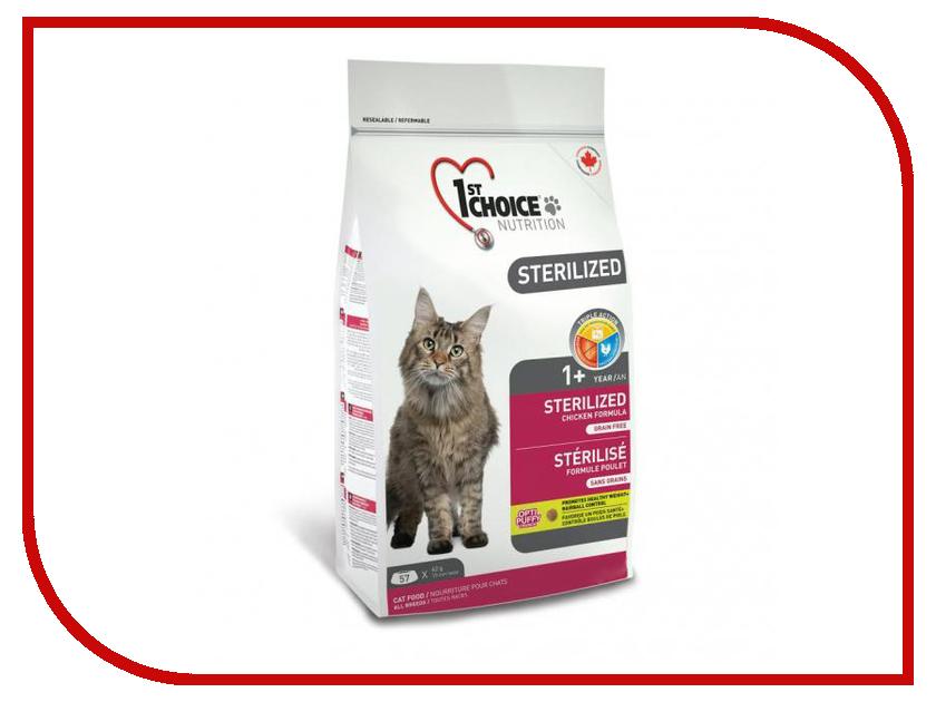 Корм 1st Choice Sterilized Курица бататом 2.4kg для кошек 102.1.281