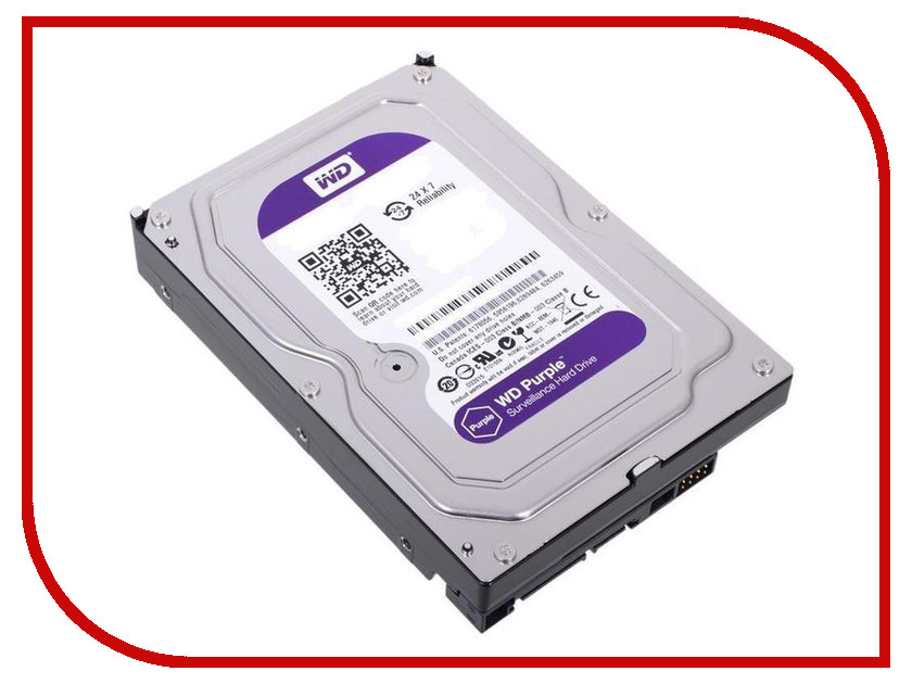 Жесткий диск 4Tb - Western Digital Purple WD40PURZ жесткий диск 4tb western digital gold wd4002fyyz