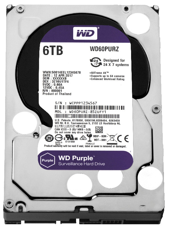 Жесткий диск Western Digital 6Tb Purple WD60PURZ