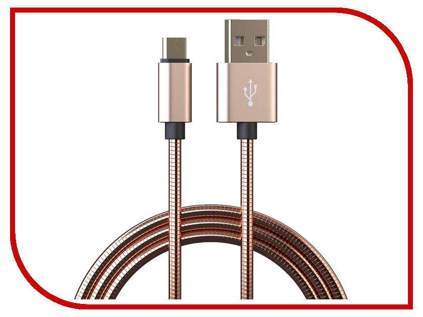 Аксессуар Qumann Micro USB 1m Gold 20103