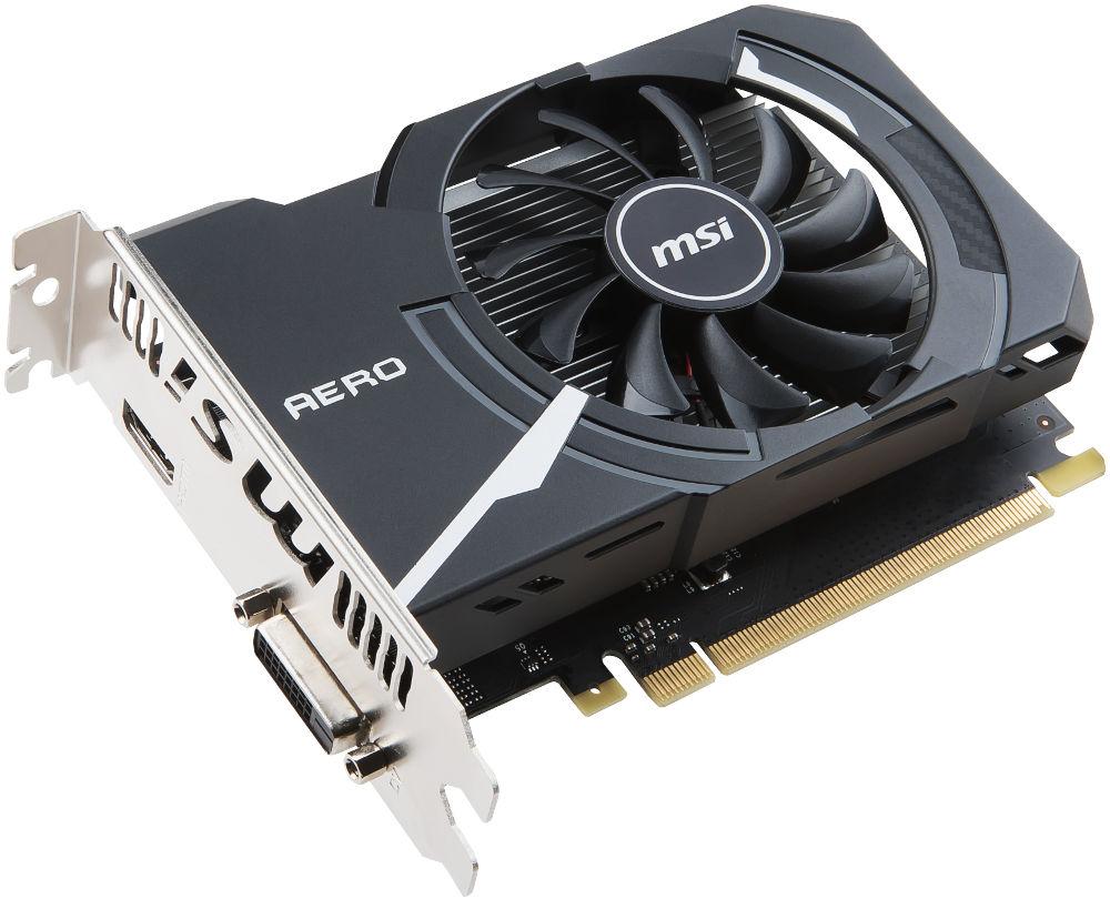 Видеокарта MSI GeForce GT 1030 1265Mhz PCI-E 3.0 2048Mb 6008Mhz 64 bit DVI HDMI HDCP GT 1030 AERO ITX 2G OC 912-V809-2492 912 v809 2287